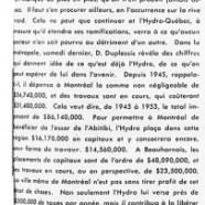 «Ce que signifie l'Hydro-Québec pour l'ensemble de la province»