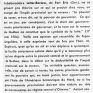 «Divergences fondamentales entre Ottawa et Québec»
