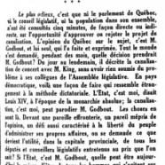 «La canalisation du Saint-Laurent»