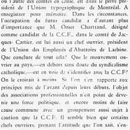 «Travail organisé et C.C.F. »