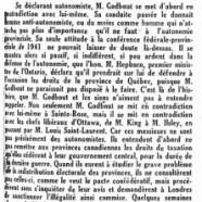 «Une nouvelle volte-face de M. Adélard Godbout»