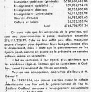 «Le gouvernement de Maurice Duplessis et l'aide à l'enseignement»