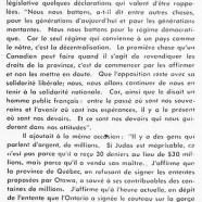 «Maurice Duplessis revient sur l'autonomie»