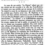 «Le Clairon dit comme nous»