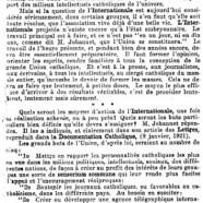 """«Pour """"L'Internationale catholique""""»"""
