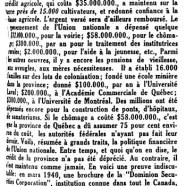 «Finances provinciales»