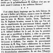 «M. Louis Saint-Laurent décroche la palme»