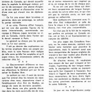 «Un coup d'épaule de M. Lester B. Pearson aux tenants du séparatisme»