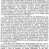 «Notre journal et les politiciens»