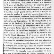 «Commentaires de l'honorable Maurice Duplessis sur la situation financière»