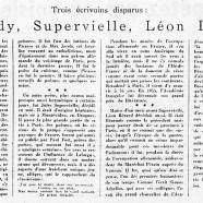 «Reverdy, Supervielle, Léon Bérard»