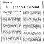 «Du général Giraud»