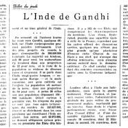 «L'Inde de Gandhi»