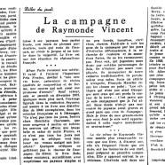 «La campagne de Raymonde Vincent»