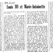 «Louis XVI et Marie-Antoinette»