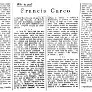 «Francis Carco»