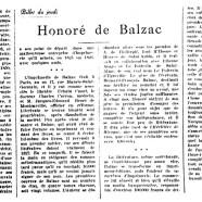 «Honoré de Balzac»