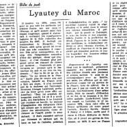 «Lyautey du Maroc»