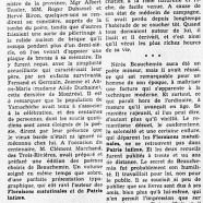 «À Yamachiche, patrie de Nérée Beauchemin»