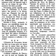 «La résurrection de Jean de Verrazane»