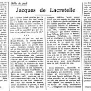 «Jacques de Lacretelle»