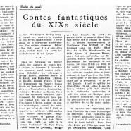 «Contes fantastiques du XIXe siècle»