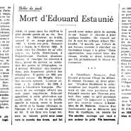 «Mort d'Édouard Estaunié»
