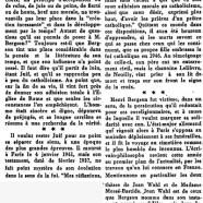 «Le philosophe juif Bergson en face du catholicisme»