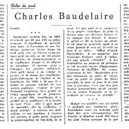 «Charles Baudelaire»