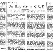 «Un livre sur la C.C.F.»