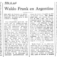«Waldo Frank en Angleterre»