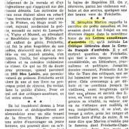 «Louis Fréchette en face de la critique de son temps»