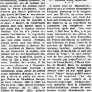 «L'effort littéraire des Franco-Américains»
