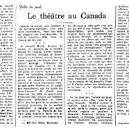«Le théâtre au Canada»