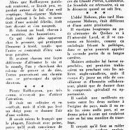 «De Monseigneur Maheux à Pierre Baillargeon»