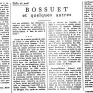 «Bossuet et quelques autres»