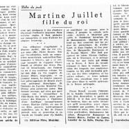 «Martine Juillet fille du roi»