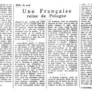 «Une Française reine de Pologne»