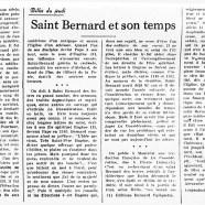 «Saint Bernard et son temps»
