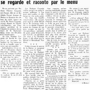 «Où la féministe Thérèse Casgrain se regarde et raconte par le menu»