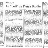 "«Le ""Loti"" de Pierre Brodin»"