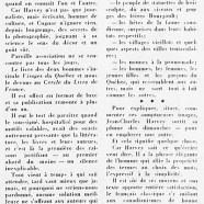 «Pour de belles images, un texte lumineux – Visages du Québec. Texte: J.-C. Harvey»