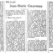 «Jean-Marie Gauvreau»