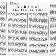 «Duhamel une fois de plus»