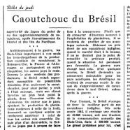 «Caoutchouc du Brésil»