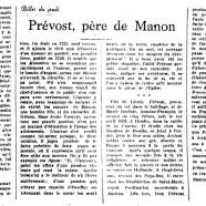 «Prévost, père de Manon»