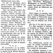 «Luc Lacourcière et le folklore»