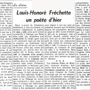 «Louis-Honoré Fréchette : un poète d'hier»