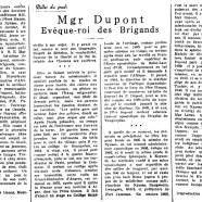«Mgr Dupont, évêque-roi des Brigands»