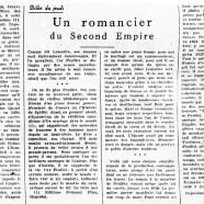 «Un romancier du Second Empire»